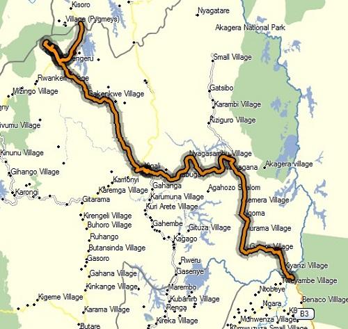 Rwanda GPS Track