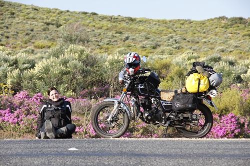 Tania on the way to Springbok