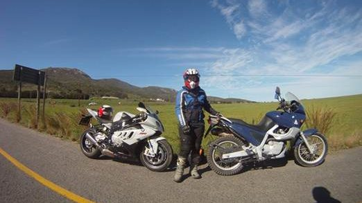 GoPro test ride and first pic of our bikes